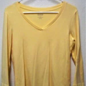 CHICO'S TRUE COLOR TEES 3/4 SLEEVE V-NECK BLOUSE
